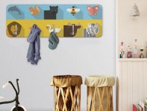 Πολύχρωμα Ζωάκια Παιδικά Κρεμάστρες & Καλόγεροι 45 cm x 1.38cm