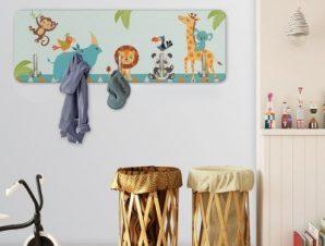 Ζώα Της Ζούγκλας Παιδικά Κρεμάστρες & Καλόγεροι 45 cm x 1.38cm