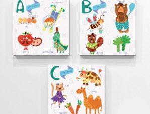 Abc… Παιδικά Mini Set καμβάς 25 x 25 cm
