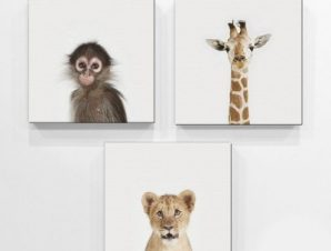 Ζώα της ζούγκλας Παιδικά Mini Set καμβάς 25 x 25 cm