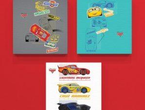 McQueen, Cruz Ramirez, Jackson Storm!! Παιδικά Mini Set καμβάς 25 x 25 cm