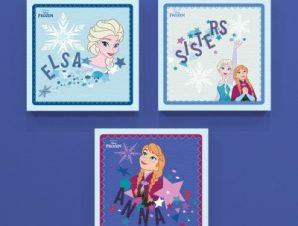 Οι αδερφές Άννα και Έλσα, Frozen! Παιδικά Mini Set καμβάς 25 x 25 cm