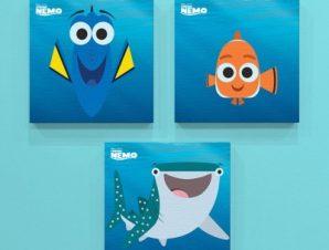 Dory, Nemo and Destiny! Παιδικά Mini Set καμβάς 25 x 25 cm