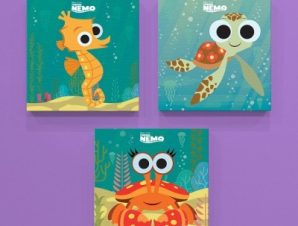 Οι μικροί φίλοι του Νέμο! Παιδικά Mini Set καμβάς 25 x 25 cm
