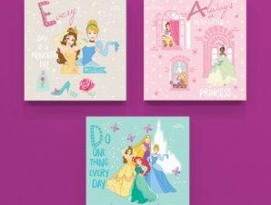 Every day is a princess day! Παιδικά Mini Set καμβάς 25 x 25 cm
