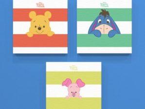 Γουίνι, Γκαρής και Γουρουνάκι! Παιδικά Mini Set καμβάς 25 x 25 cm