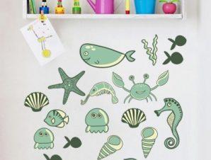 Θάλασσα Παιδικά Mini Pack αυτοκόλλητα 100×100 cm