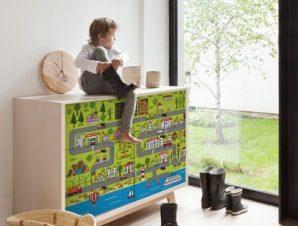 Όμορφη Πόλη Παιδικά Αυτοκόλλητα ντουλάπας 61 x 185 cm