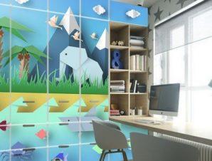 Ζώα Του Κόσμου Παιδικά Αυτοκόλλητα ντουλάπας 61 x 185 cm