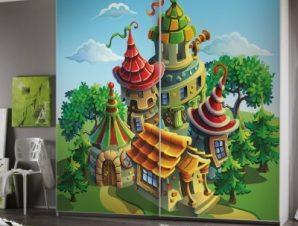 Μαγικά Σπιτάκια Παιδικά Αυτοκόλλητα ντουλάπας 61 x 185 cm
