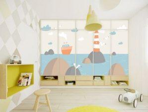 Φάρος Παιδικά Αυτοκόλλητα ντουλάπας 61 x 185 cm