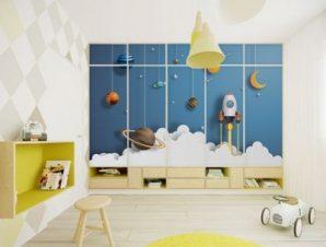Πλανήτες Παιδικά Αυτοκόλλητα ντουλάπας 61 x 185 cm