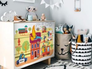 Ζωάκια Πυροσβέστες Παιδικά Αυτοκόλλητα ντουλάπας 61 x 185 cm