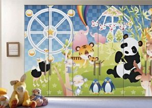 Ώρα για παιχνίδι Παιδικά Αυτοκόλλητα ντουλάπας 61 x 185 cm