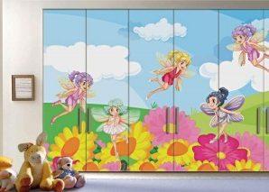 Νεράιδες Παιδικά Αυτοκόλλητα ντουλάπας 61 x 185 cm