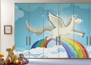 Πήγασος Παιδικά Αυτοκόλλητα ντουλάπας 61 x 185 cm