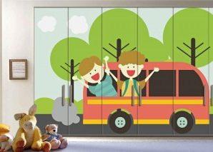 Ταξίδι Στη Φύση Παιδικά Αυτοκόλλητα ντουλάπας 61 x 185 cm