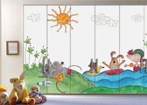 Ώρα για κολύμπι Παιδικά Αυτοκόλλητα ντουλάπας 61 x 185 cm