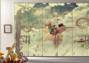 Φανταστικό τοπίο Παιδικά Αυτοκόλλητα ντουλάπας 61 x 185 cm