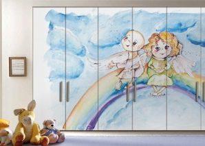 Μικροί άγγελοι Παιδικά Αυτοκόλλητα ντουλάπας 61 x 185 cm
