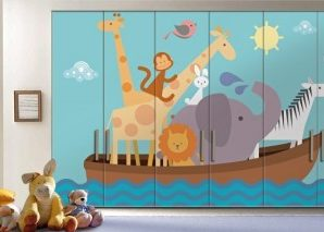 Κιβωτός του Νώε Παιδικά Αυτοκόλλητα ντουλάπας 61 x 185 cm