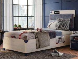 Παιδικό κρεβάτι ημίδιπλο με αποθηκευτικό χώρο TR-1707 USB CHARGING