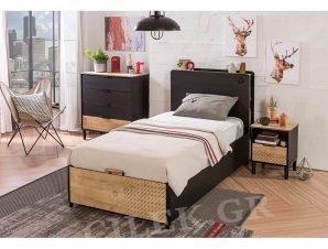 Παιδικό κρεβάτι με αποθηκευτικό χώρο BL-1705 USB CHARGING