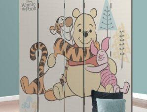 Ο Winnie και οι φίλοι του! Παιδικά Παραβάν 80×180 cm [Δίφυλλο]
