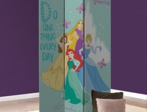 Κάνε αυτό που σε κάνει να νιώθεις χαρούμενη, Πριγκίπισσες! Παιδικά Παραβάν 80×180 cm [Δίφυλλο]
