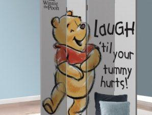 Γέλα μέχρι να πονέσει η κοιλιά σου, Winnie the Pooh Παιδικά Παραβάν 80×180 cm [Δίφυλλο]