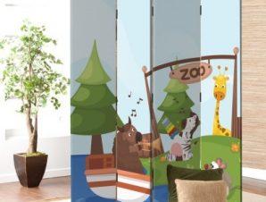 Ζωολογικός Κήπος Παιδικά Παραβάν 80×180 cm [Δίφυλλο]