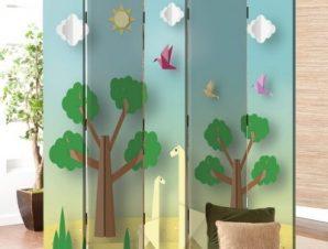 Χάρτινη φύση Παιδικά Παραβάν 80×180 cm [Δίφυλλο]