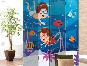 Παίζοντας Με Τα Ψάρια Παιδικά Παραβάν 80×180 cm [Δίφυλλο]