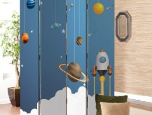 Πλανήτες Παιδικά Παραβάν 80×180 cm [Δίφυλλο]