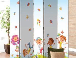 Χαρούμενα Παιδάκια Παιδικά Παραβάν 80×180 cm [Δίφυλλο]