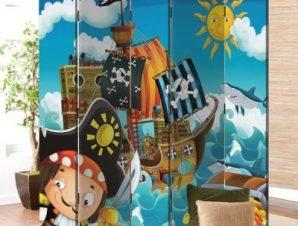 Πειρατές Παιδικά Παραβάν 80×180 cm [Δίφυλλο]