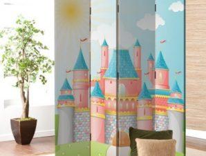 Παραμυθένιο κάστρο Παιδικά Παραβάν 80×180 cm [Δίφυλλο]