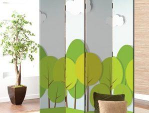 Δάσος Παιδικά Παραβάν 80×180 cm [Δίφυλλο]