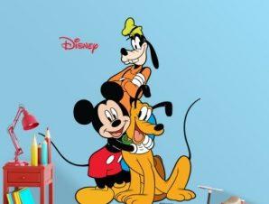 Mickey & friends Παιδικά Αυτοκόλλητα τοίχου 35 x 30 cm
