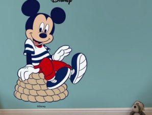 Ο Mickey Ναυτικός! Παιδικά Αυτοκόλλητα τοίχου 33 x 50 εκ.