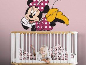 Η Μίνυ Μάους ξαπλωμένη! Παιδικά Αυτοκόλλητα τοίχου 65 x 50 εκ.