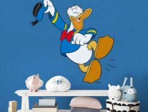 Χαρούμενος Donald Duck!! Παιδικά Αυτοκόλλητα τοίχου 49 x 50 cm