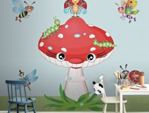 Μανιτάρι Παιδικά Ταπετσαρίες Τοίχου 120 x 90 cm