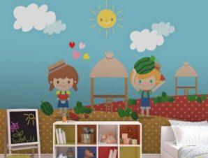 Καλωσόρισες καλοκαίρι! Παιδικά Ταπετσαρίες Τοίχου 117 x 90 cm