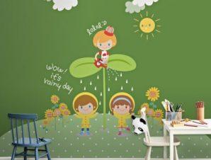 Παιδιά μες στη φύση Παιδικά Ταπετσαρίες Τοίχου 117 x 90 cm