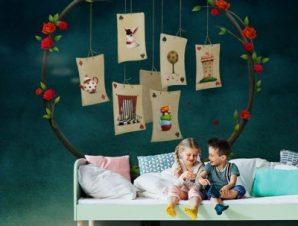 Τραπουλόχαρτα Παιδικά Ταπετσαρίες Τοίχου 100 x 100 cm