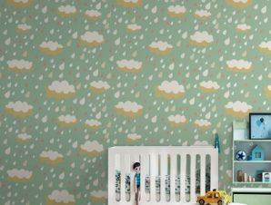 Σύννεφα Παιδικά Ταπετσαρίες Τοίχου 100 x 100 cm