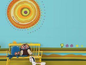Εικονογράφηση ήλιου Παιδικά Ταπετσαρίες Τοίχου 79 x 120 cm