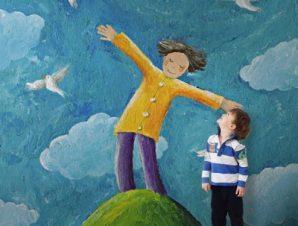 Αγόρι στον λόφο Παιδικά Ταπετσαρίες Τοίχου 121 x 85 cm