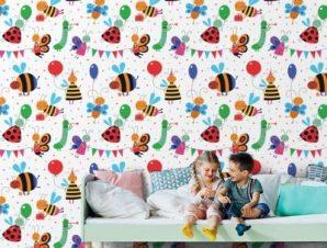 Μελισσούλες Παιδικά Ταπετσαρίες Τοίχου 100 x 100 cm